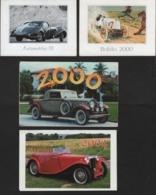 Lot De 4 Calendriers De Poche Très Belles Voitures Anciennes / 1 De 1998 ,2 De 2000 Et 1 De 2004 (35 Fougères ,Lécousse) - Calendriers