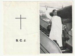 Dp. Pater Jeroom VANDEMOERE Blankenberghe 1932 Samen Met Mgr. Wittebols En Zes Medebroeders Beroofd Kongo 1964 S.C.J. - Devotion Images