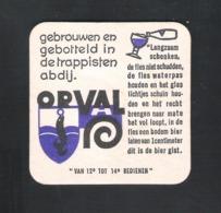 Bierviltje - Sous-bock - Bierdeckel : ORVAL   (B 1277) - Portavasos