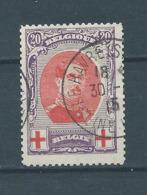 Belgique Belgïe COB 134A OBL Cote 45 € - 1918 Rotes Kreuz