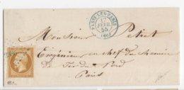 LOT 1791-4 /  N°13A OBL. PC 2386 + CAD PASSY LES PARIS 17 FEVR. 55 (type 15) BLEU P/PARIS - 1849-1876: Periodo Classico