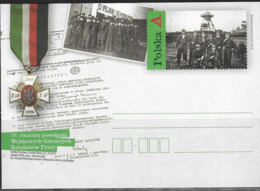 POLAND, 2019,MINT POSTAL STATIONERY, PREPAID POSTCARD, MINING BATTALIONS, MEDALS - Stamps