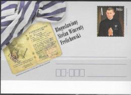 POLAND, 2019,MINT POSTAL STATIONERY, PREPAID POSTCARD, STEFAN VINCENTY FRELICHOWSKI, WWII, MARTYRS, CATHOLIC PRIESTS - WW2