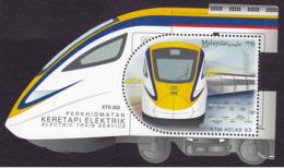 Malaysia 2018  MS MNH ELECTRIC TRAIN SERVICE  RAILWAY - Trains