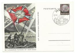 Dt. Bes. Lothringen Ganzsache P5/02 Mit Unseren Fahnen Ist Der Sieg Sonderstempel Metz - Occupation 1938-45