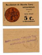 1914 - 1918 // HERAULT // BEDARIEUX // SOU DE LACLAU // CAUVY // Bon De Cinq Centimes - Bons & Nécessité