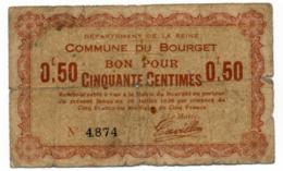 1914 - 1918 // SEINE // LE BOURGET // Bon De Cinquante Centimes - Bonds & Basic Needs