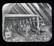 Dolcoath Mine, Fathom Level CORNWALL - Magic Lantern Slide (lanterne Magique) - Plaques De Verre