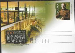 POLAND, 2019,MINT POSTAL STATIONERY, PREPAID POSTCARD, MILITARY LIBRARY - Militaria