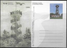 CROATIA, 2019,MINT POSTAL STATIONERY, PREPAID POSTCARD,  PYRAMID ON JAPETIC - Architecture