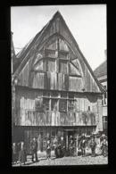 Wooden House, Antwerp BELGIUM - Magic Lantern Slide (lanterne Magique) - Glasdias