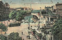 """5139 """" BERLIN-HOCHBAHN-HALLESCHES TOR UND TEMPELHOFER UFER """"ANIMATA-STAZIONE-TRAMWAY-CART. POSTALE ORIG. SPEDITA 1921 - Tempelhof"""