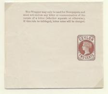 Ceylon Newspaper Wrapper H&G 1 - Ceylon (...-1947)