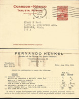 J) 1939 MEXICO, COLON MONUMENT, POSTCARD, POSTAL STATIONARY, CIRCULATED COVER, FROM MEXICO TO USA - Mexico