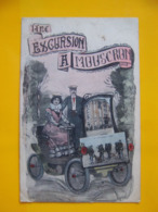 Cpa Mouscron Belgique En Excursion Tacot - Mouscron - Moeskroen