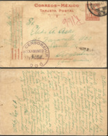 J) 1942 MEXICO, MONUMENT TO THE REVOLUTION, CENSORSHIP, POSTCARD, POSTAL STATIONARY, CIRCULATED COVER, FROM MEXICO - Mexico