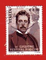Italia ° - Anno -2004 - PUCCINI.  Unif. 2805.  Usato - 6. 1946-.. Republik