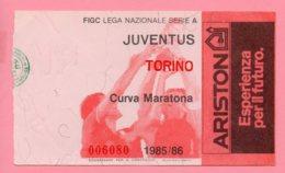 Biglietto Ingresso Stadio Juventus Torino 1985/86 - Eintrittskarten