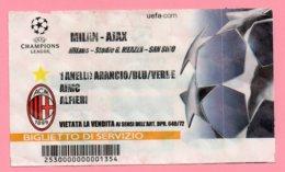 Biglietto Ingresso Stadio Milan Ajax - Tickets D'entrée