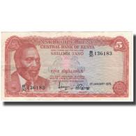 Billet, Kenya, 5 Shillings, 1975-01-01, KM:11b, TB+ - Kenia