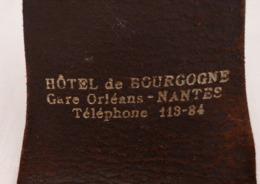 Ancien Etui De Jeu De Cartes Hotel De Bourgogne Gare D'Orléans NANTES - Other