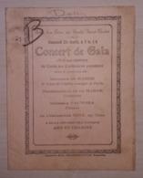 Programme Concert De Gala Salle Cercle Saint-Victor Dour (Imprimerie Alfred Capouillez Dufour Boussu-Bois) - Programmes