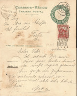 J) 1923 MEXICO, 2 CENTS GREEN, AZTEC CALENDAR, WITH SLOGAN CANCELLATION,POSTCARD, POSTAL STATIONARY, CIRCULATED COVER, F - Mexico