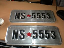 Old Number Plates Boat,rowboat Jugoslavija Yugoslavia 2 Pieces Set - Number Plates