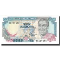 Billet, Zambie, 10 Kwacha, KM:31a, NEUF - Zambia