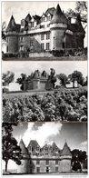 LOT DE 4 CP (Réf:J763) MONTBAZILLAC (DORDOGNE 24) Les Châteaux - Francia