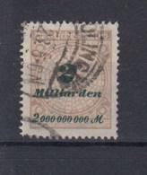 Reich (XX) Michel Kat.Nr.   Gest 325A Gepr - Alemania