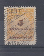 Reich (XX) Michel Kat.Nr.   Gest 327B Gepr - Alemania