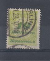 Reich (XX) Michel Kat.Nr.   Gest 328 Gepr - Oblitérés