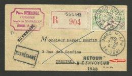 """50F Aviron / Recommandée ISSOIRE - PUY DE DOME 29.04.1954 / Cachet """" Retour à L'envoyeur 1845 """" - Marcophilie (Lettres)"""