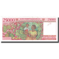 Billet, Madagascar, 25,000 Francs = 5000 Ariary, KM:82, NEUF - Madagascar