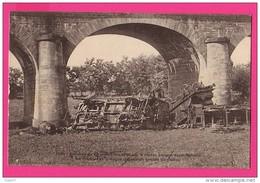 CPA  (Réf Z304) LANGON (33 GIRONDE) Accident Du 24 /09/1905 Sur Le Viaduc Langon - ST-Macaire Wagon Tombé Du Viaduc - Langon