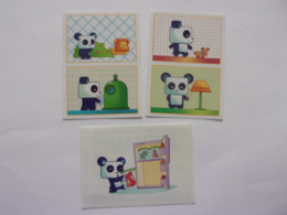 PANINI ANIMAL WORLD Animaux N°17A &17B, 18A & 18B, 316 Panda Ours Pandamacko - Edition Française