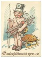 DR Privat-Ganzsache Winterhilfswerk 1934/35 Ungelaufen - Alemania