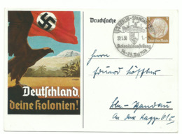 DR Privat-Ganzsache 3 Pfg. Deutschland, Deine Kolonien! 1938 - Ganzsachen