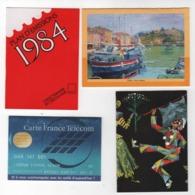 4 Calendriers La Poste 1993 , France Télécom 1995 Avec Tarif Des Communications,Poste Portugal 1984 ,Boucherie Fougères - Calendriers