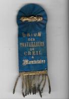 """Médaille """"UNION Des Travailleurs """" CREIL   MONTATAIRE - Insignes & Rubans"""