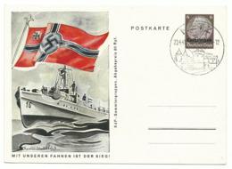 Dt. Bes. Lothringen Ganzsache P5/07 Mit Unseren Fahnen Ist Der Sieg Sonderstempel Metz - Occupation 1938-45