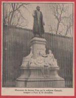 Monument Du Dr Péan Par Le Sculpteur Gauquié, Inauguré à Paris Le 16 Décembre 1909. - Vieux Papiers