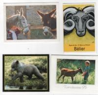 Lot De 4 Calendriers Animaux : L'enfant Et Les Ânes 1992 , L'enfant Et La Chèvre 1995 , Ourson 1993 , Bélier 2011 - Calendriers