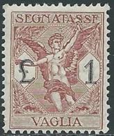 1924 REGNO SEGNATASSE PER VAGLIA 1 LIRA MNH ** - UR37-8 - 1900-44 Vittorio Emanuele III