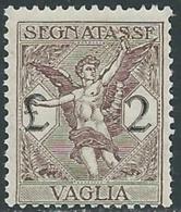 1924 REGNO SEGNATASSE PER VAGLIA 2 LIRE MNH ** - UR37-8 - 1900-44 Victor Emmanuel III.