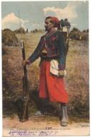 MILITARIA GUERRE 14/18 ARMEE FRANCAISE 3e ZOUAVES EN FACTION UNIFORME FUSIL SOUVENIR ZOUAVE Célestin VIDAL PUICHERIC 11 - Guerre 1914-18