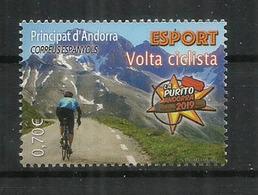 """ANDORRA. """"La Purito"""" 2019 Andorra.Course Cyclotouriste. 145 Km,avec 5 200 Mètres De Dénivelé. Timbre Neuf ** - Ciclismo"""