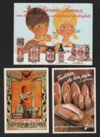 Lot De 3 Calendriers De Poche ,Chicorée LEROUX 1987, Lessive PHENIX 1988 , Tradition Du Bon Pain1991 - Calendriers