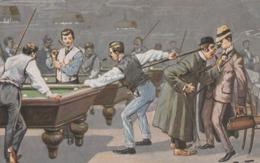 Joueurs Au Billard.  Scan - Thiele, Arthur